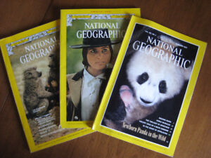 National Geographic Magazines 1970, 1980, 1990's