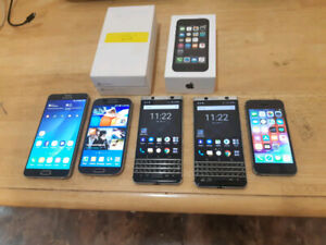 Selling FEW PHONES-s4/note 5/s7/Android blackberry Keyone