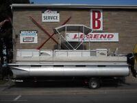 22' Tahoe Pontoon Boat with Mercury 40 elpt BF