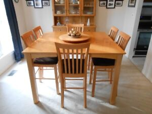 Dining Table (counter height) and 6 chairs