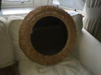 Ikea wicker wall mirror
