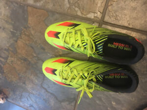 Pair of yellow and green Addias  cleats