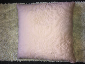 "dusty rose/ pink 20"" decorative pillow"