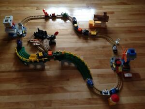 Fisher Price trains and rails