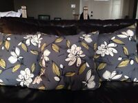 3 large accent pillows - never used