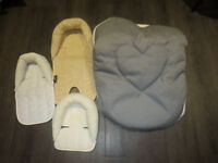 Jolly Jumper Winter Infant Seat Cover, with 3 pcs. head hugger