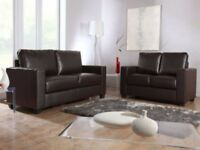 🌹🌹= 65% DISCOUNT= 🌹🌹BRAND NEW PU LEATHER 3+2 BOX SOFA JUST £219 **SAME DAY LONDON DELIVERY🌹🌹