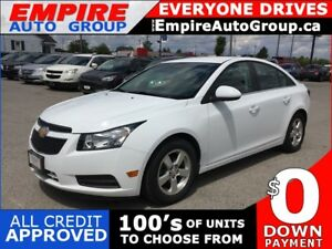 2013 CHEVROLET CRUZE 2LT * LEATHER * REAR CAM * BLUETOOTH * LOW