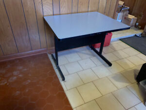 Solid utility table , printers computer etc