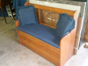 Solid maple deacons bench