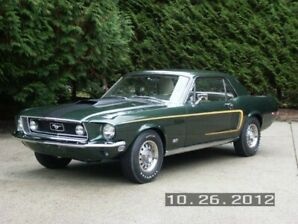1968 1/2 Mustang GT  R Code  All  Numbers Matching