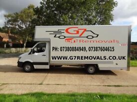 07380884949 MAN AND VAN FULL HOUSE REMOVAL FULLY INSURED RUBBISH CLEARENCE 7.5 TONNE TRUCK HIRE