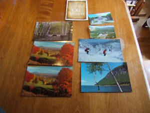 old post cards & a small book of Vermont