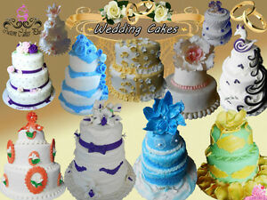 Custom Wedding Cakes, Cupcakes, Pushpop cupcakes and Cakepops