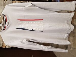 White Moncler Long Sleeve Shirts