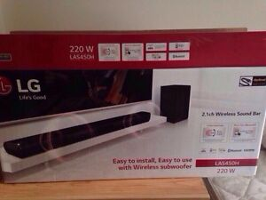 LG wireless sound bar and subwoofer
