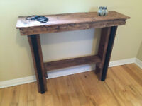 Reclaimed / Recycled Rustic Wood Sofa Table