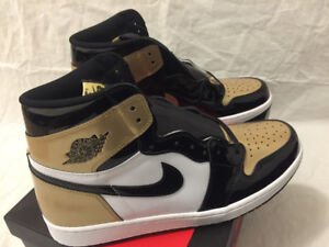 Nike Air Jordan Retro 1 Gold Toe size 13