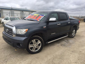 2008 Toyota Tundra Limited Crewmax-4WD-LEATHER-SUNROOF-HTD SEATS
