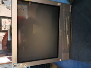 Tv with VCR & DVD built in with Remote & Xbox & DVD player