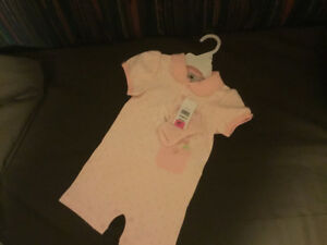 Pink Onsie Short set w matching socks.  BRAND NEW w TAGS