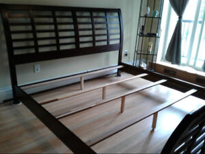 Kind Size Bed Frame, Beauty Rest Mattress and Box Springs