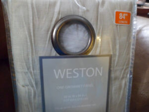 2 Panels WESTON  Curtains with Metal Grommets