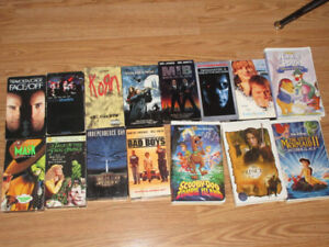 16 VHS movies selling as a package for $10