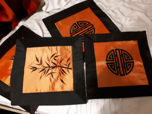 4 Asian square pillow covers new