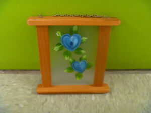 Painted Glass Wall Hanger
