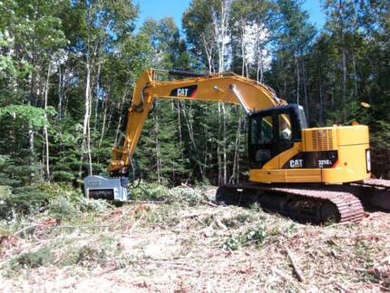 Land clearing, site preparation dam construction