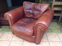 Large Genuine Leather Arm Chair / Seat