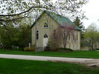 Historic Church in Bayfield Ontario for sale! Renovation-ready!