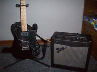 Squier Telecaster by Fender Guitar and Fender Mustang 2 Amp