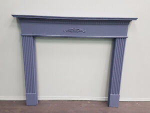 Painted Vintage Fireplace