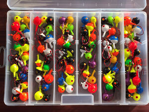 NEW! 107 Pcs. Jig Kit with Red Sickle Hooks - Great Gift Idea!