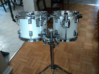 """Taye RockPro 8"""" & 10"""" toms with stand"""