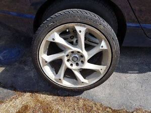 "4x Enkei Rims (Arashi 17"")& General G-MAX Tires"