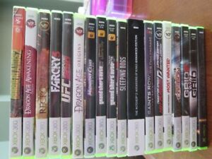 Assorted XBOX 360 Games: GTA, Need for Speed, Witcher