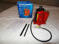 20 TON AIR ACTUATED HYDRAULIC BOTTLE JACK! LIKE NEW!