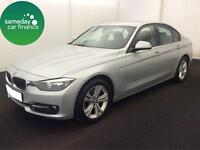 £240.10 PER MONTH SILVER 2012 BMW 320D 2.0 SPORT STEP SALOON DIESEL AUTOMATIC