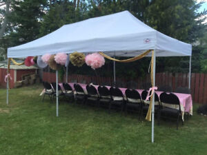 Outdoor tent, chair and table rental! Free delivery