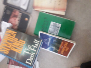 100 novels and school books for sale