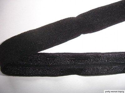 10m elastisches Band 0,28€/m in schwarz mit Falzkante ED91