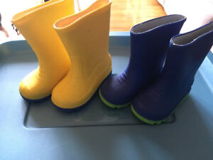 Toddler size 5 and size 6 rain boots