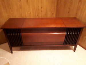 Cabinet with turntable and cassette for $30.
