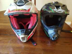 2 Helmets for sale $50 each