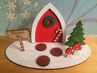 Children's magical elf Christmas door