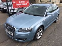 2008 (57) AUDI A3 2.0 TDI SPORT, 1 YEAR MOT, FULL SERVICE HISTORY, NOT BMW GOLF MERCEDES ASTRA