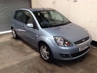 Ford fiesta 1.4 Ghia 5 Door 1 Owner Top Of The Range Leather Alloys Air Con Parking Sensors Warranty